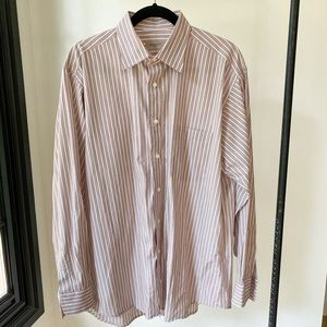 BURBERRY London stripper button down dress shirt